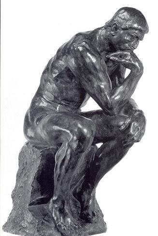 Rodin Thinker-red
