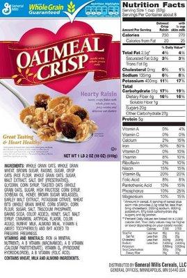 Oatmeal crisp