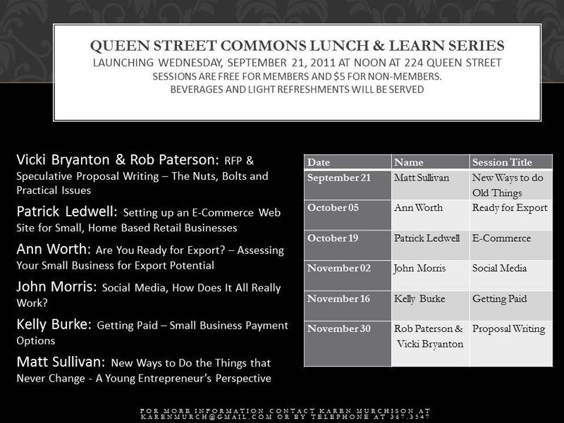 Qsclunch and learn
