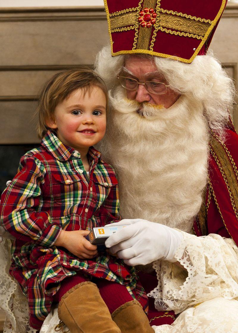 Sophia with Santa