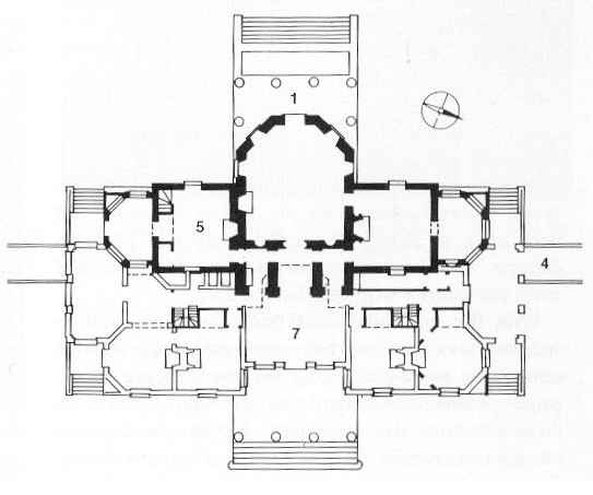 Jefferson plan of Monticello