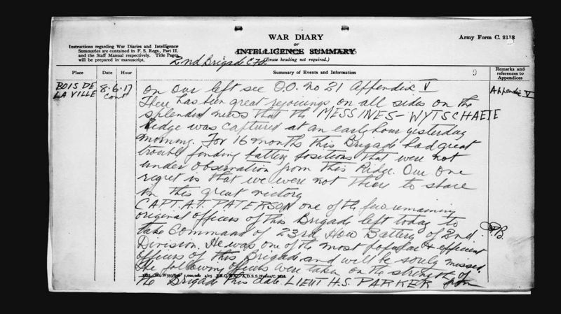 Alec leaves war diary