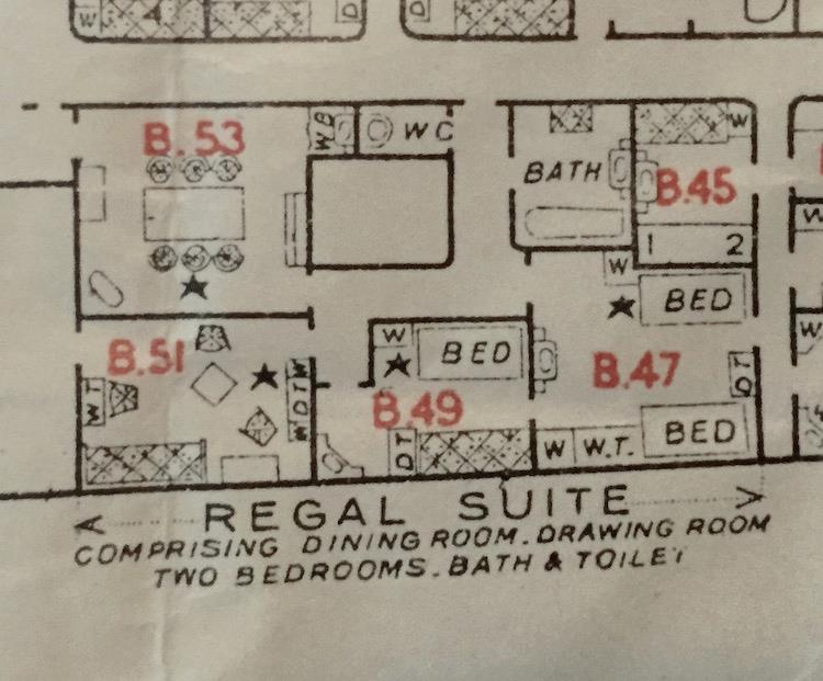 Regal suite plan