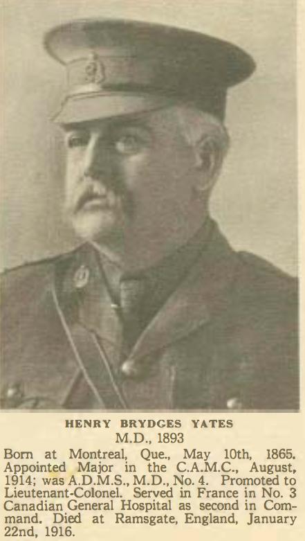 Dr Henry Yates D Jan 22 1916 2