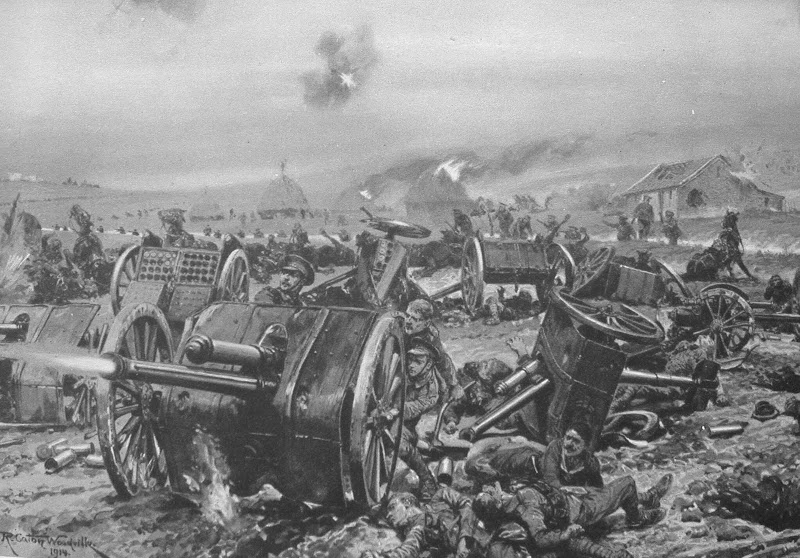The Last Gun Of L Battery Royal Horse Artillery On The Morning Of 1st Sep 1914